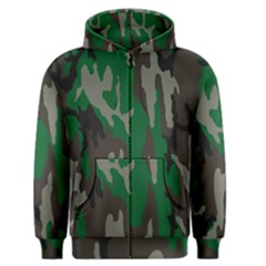 Army Green Camouflage Men s Zipper Hoodie