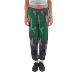 Army Green Camouflage Women s Jogger Sweatpants