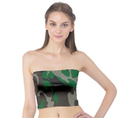 Army Green Camouflage Tube Top