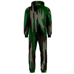 Army Green Camouflage Hooded Jumpsuit (Men)