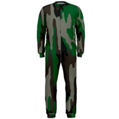 Army Green Camouflage OnePiece Jumpsuit (Men)
