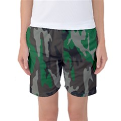 Army Green Camouflage Women s Basketball Shorts