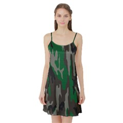 Army Green Camouflage Satin Night Slip