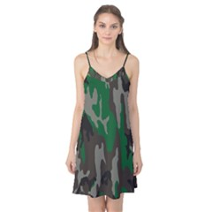 Army Green Camouflage Camis Nightgown