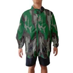 Army Green Camouflage Wind Breaker (kids)