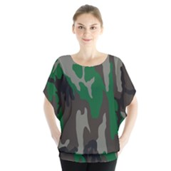 Army Green Camouflage Blouse