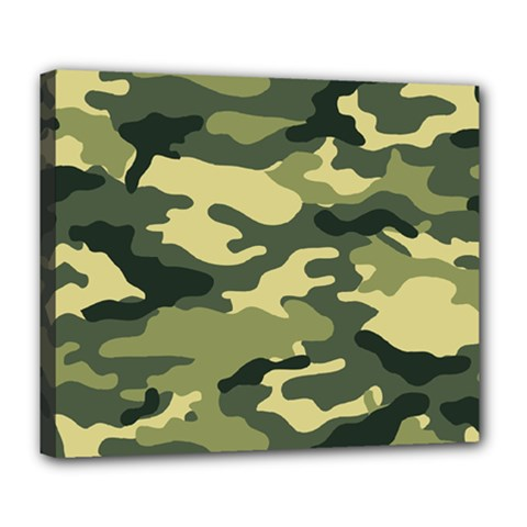 Camouflage Camo Pattern Deluxe Canvas 24  x 20