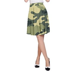 Camouflage Camo Pattern A-Line Skirt