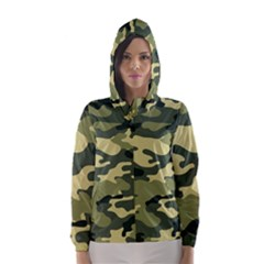 Camouflage Camo Pattern Hooded Wind Breaker (women)