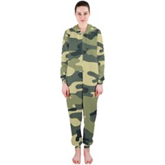 Camouflage Camo Pattern Hooded Jumpsuit (Ladies)