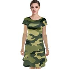 Camouflage Camo Pattern Cap Sleeve Nightdress