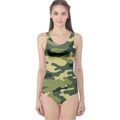 Camouflage Camo Pattern One Piece Swimsuit
