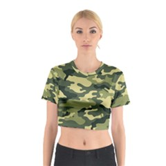 Camouflage Camo Pattern Cotton Crop Top