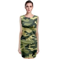 Camouflage Camo Pattern Classic Sleeveless Midi Dress