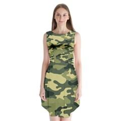 Camouflage Camo Pattern Sleeveless Chiffon Dress