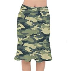 Camouflage Camo Pattern Mermaid Skirt