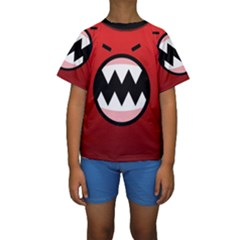 Funny Angry Kids  Short Sleeve Swimwear