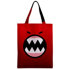 Funny Angry Zipper Classic Tote Bag