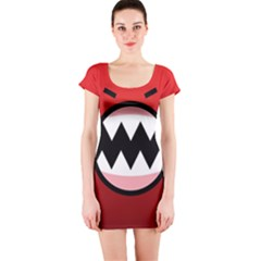 Funny Angry Short Sleeve Bodycon Dress
