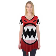 Funny Angry Short Sleeve Tunic