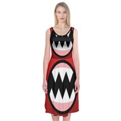Funny Angry Midi Sleeveless Dress