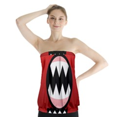 Funny Angry Strapless Top