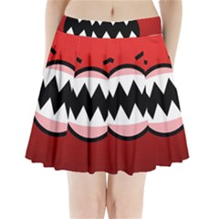 Funny Angry Pleated Mini Skirt
