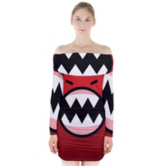 Funny Angry Long Sleeve Off Shoulder Dress