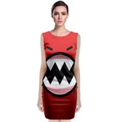 Funny Angry Sleeveless Velvet Midi Dress