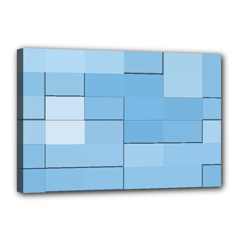 Blue Squares Iphone 5 Wallpaper Canvas 18  x 12