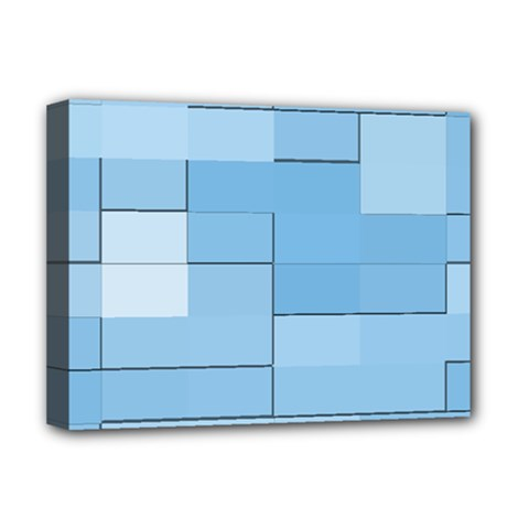 Blue Squares Iphone 5 Wallpaper Deluxe Canvas 16  x 12