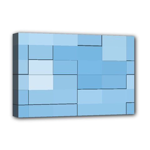 Blue Squares Iphone 5 Wallpaper Deluxe Canvas 18  X 12