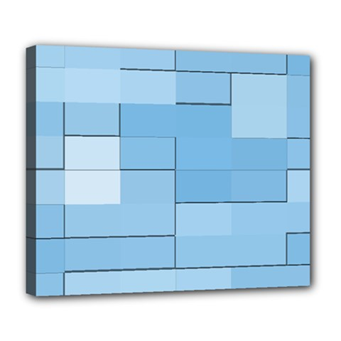 Blue Squares Iphone 5 Wallpaper Deluxe Canvas 24  x 20