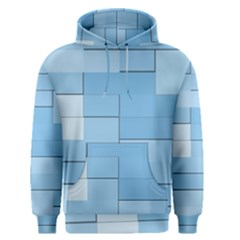 Blue Squares Iphone 5 Wallpaper Men s Pullover Hoodie