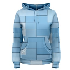 Blue Squares Iphone 5 Wallpaper Women s Pullover Hoodie