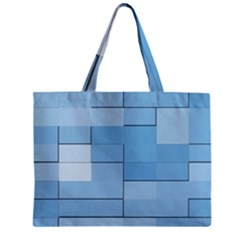 Blue Squares Iphone 5 Wallpaper Zipper Mini Tote Bag