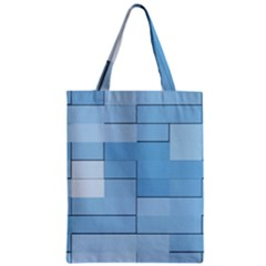 Blue Squares Iphone 5 Wallpaper Zipper Classic Tote Bag