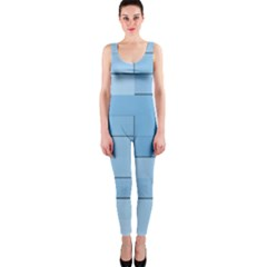 Blue Squares Iphone 5 Wallpaper Onepiece Catsuit