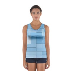 Blue Squares Iphone 5 Wallpaper Women s Sport Tank Top