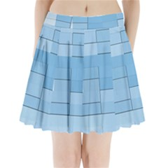 Blue Squares Iphone 5 Wallpaper Pleated Mini Skirt