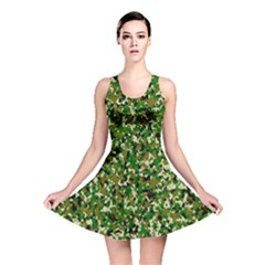 Camo Pattern Reversible Skater Dress