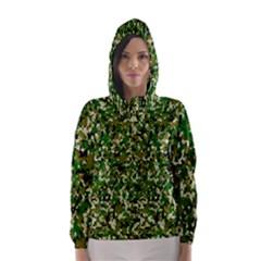 Camo Pattern Hooded Wind Breaker (women)