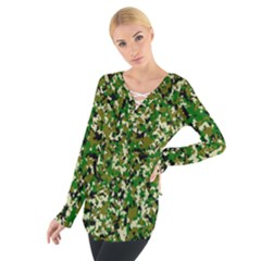 Camo Pattern Women s Tie Up Tee