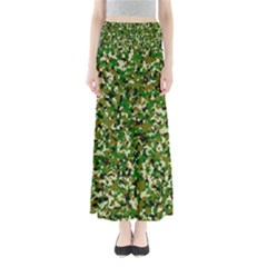 Camo Pattern Full Length Maxi Skirt