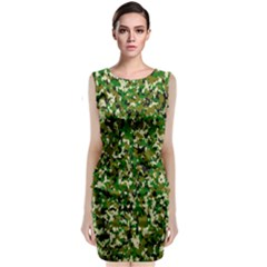 Camo Pattern Classic Sleeveless Midi Dress