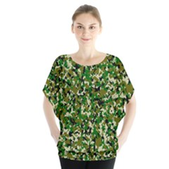 Camo Pattern Blouse