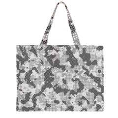 Camouflage Patterns Zipper Large Tote Bag