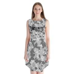Camouflage Patterns Sleeveless Chiffon Dress