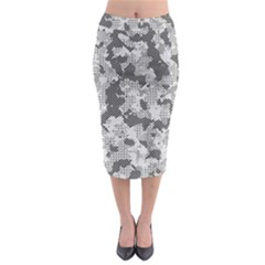 Camouflage Patterns Midi Pencil Skirt