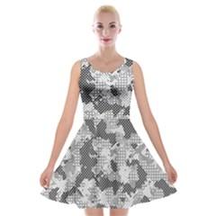 Camouflage Patterns Velvet Skater Dress